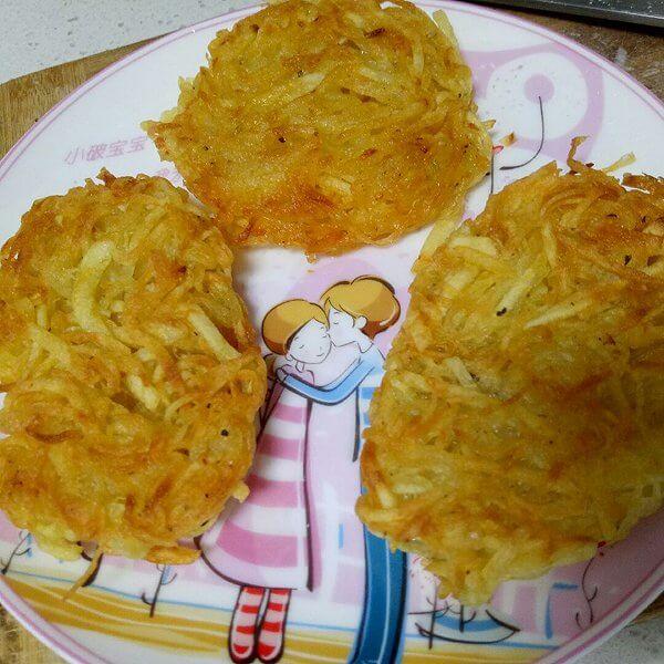 好吃的早餐土豆丝饼