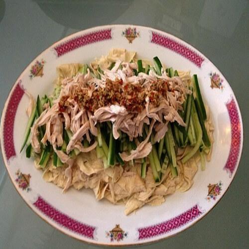 凉拌鸡丝腐竹