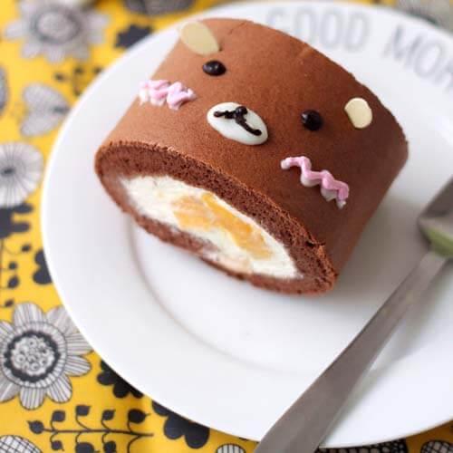轻松熊可可蛋糕卷