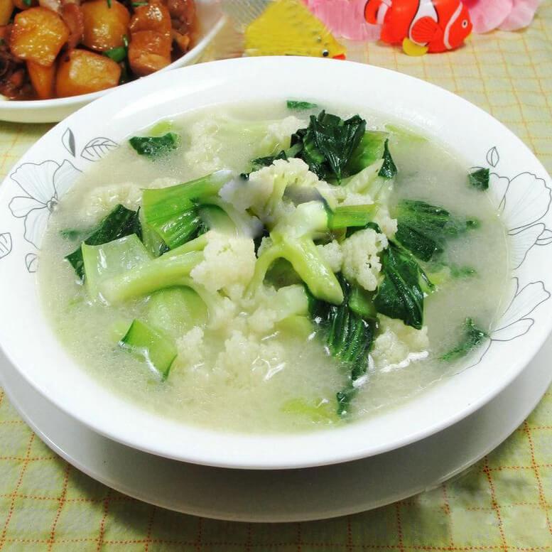 浓汤宝青菜花菜