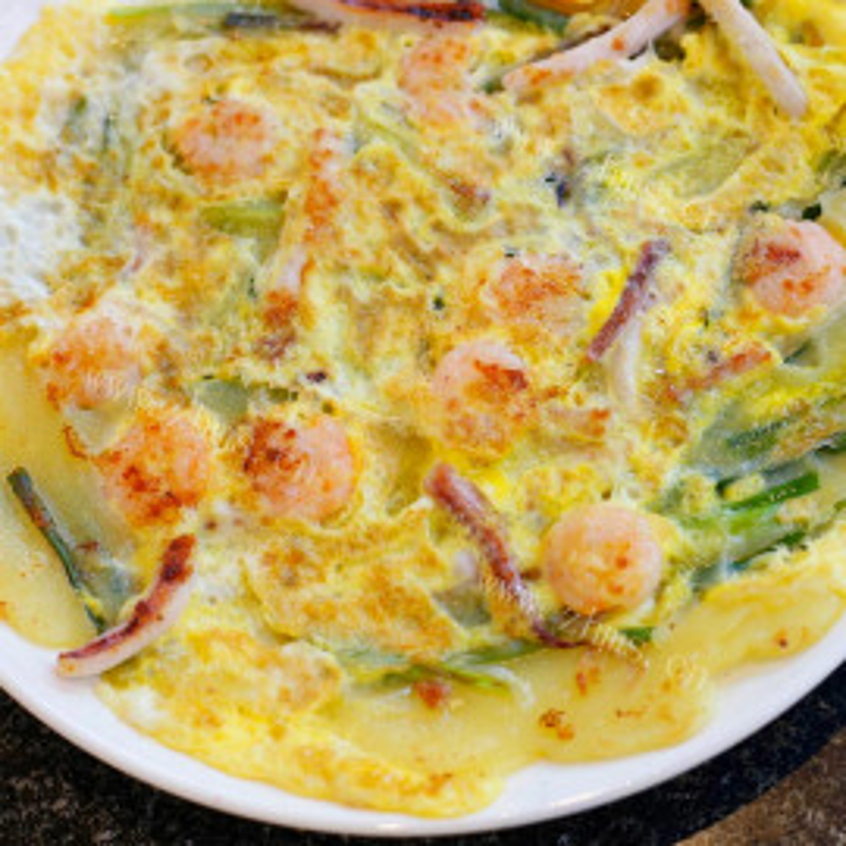 韩式海鲜葱饼