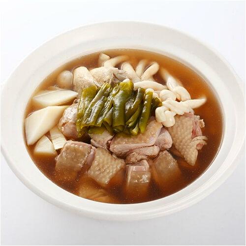 肉竹桂圆老鸡汤