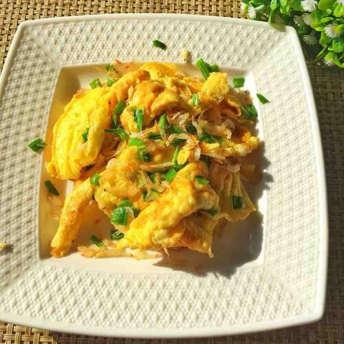 虾皮炒鸡蛋