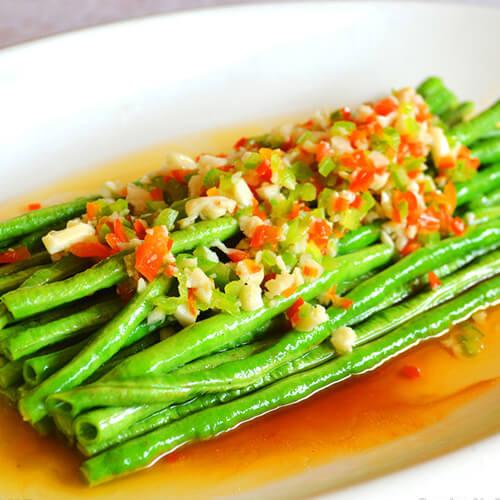 蒜蓉豆豉炒豆角