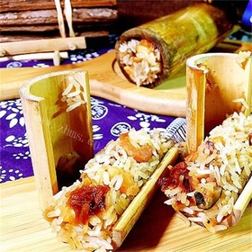 榄香海鲜竹筒饭