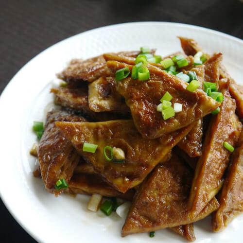 茭白烧豆腐干