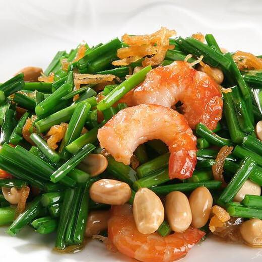河虾米炒韭菜