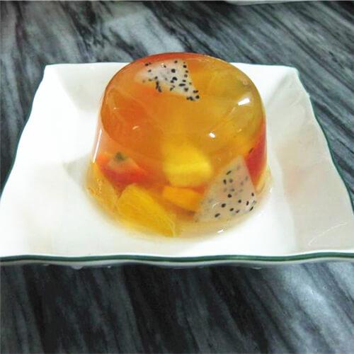 美味酸奶盖木瓜火龙果