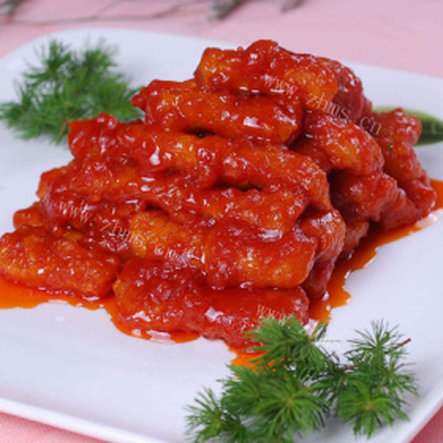 茄汁茭白肉丁