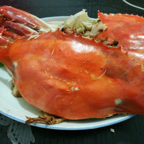 水煮梭子蟹