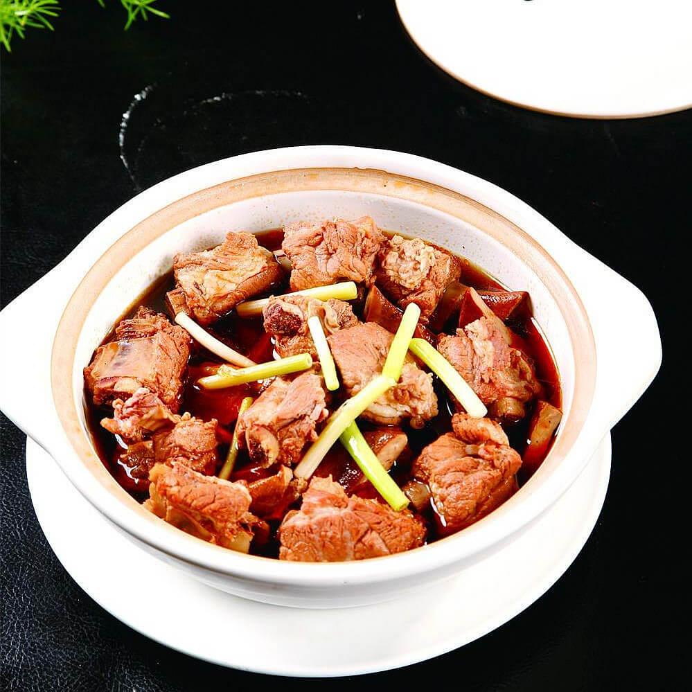 砂锅豆干焖肉