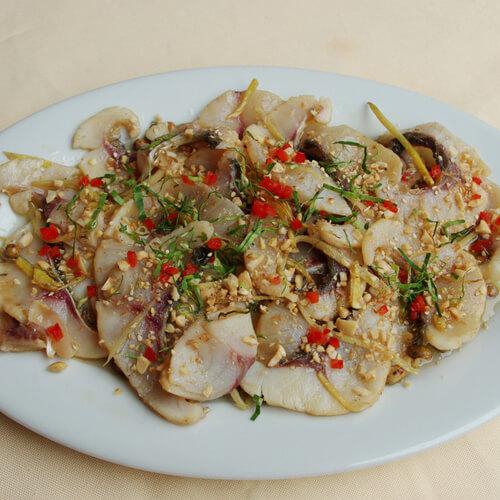 甜豆炒鱼片