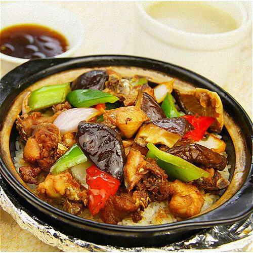 美味的香菇锅仔饭