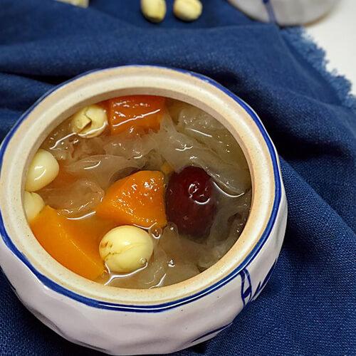 皂角米桃胶木瓜羹
