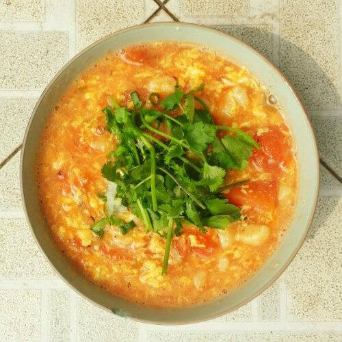 让人怀念的西红柿疙瘩汤