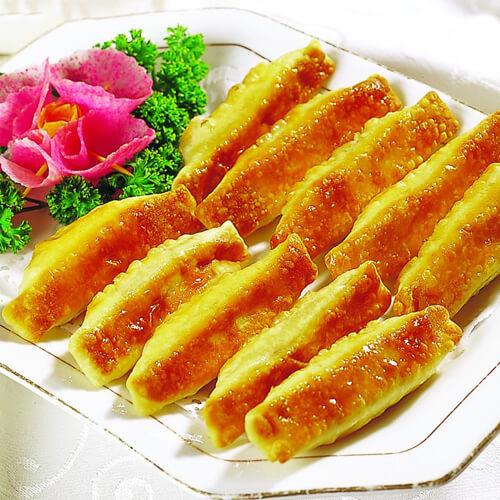 鲜肉茴香锅贴