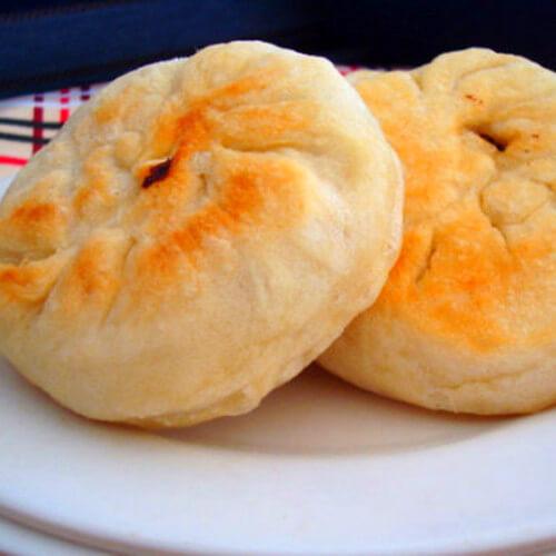 香菇白菜发面肉饼