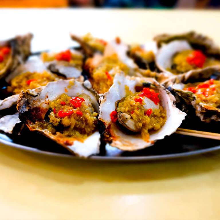 蒜烤海蛎子