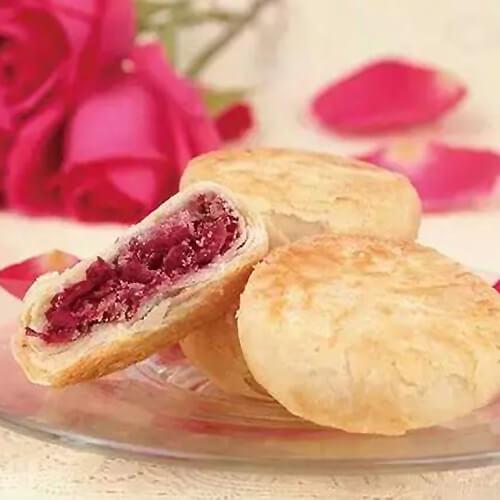 花香豆沙饼