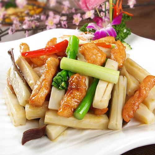 莲藕炒豆腐条