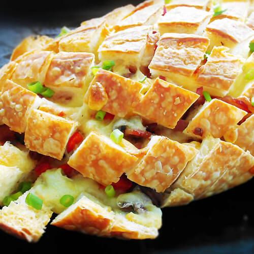 芝士榴莲烤面包