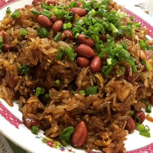 可口的生炒糯米饭