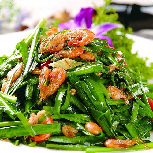 家庭版韭菜炒河虾