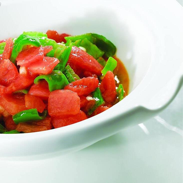尖椒炒番茄