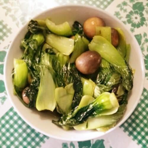美味草菇菊花菜
