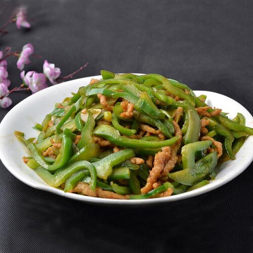 美美厨房之青椒炒肉丝