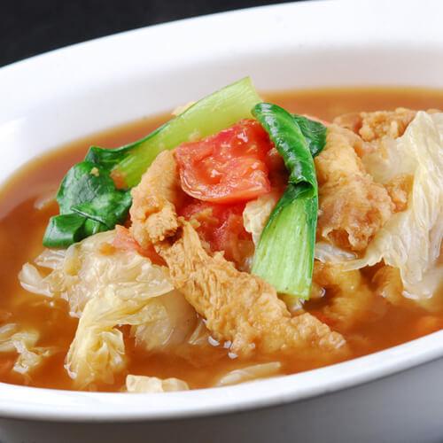 白菜酥肉汤