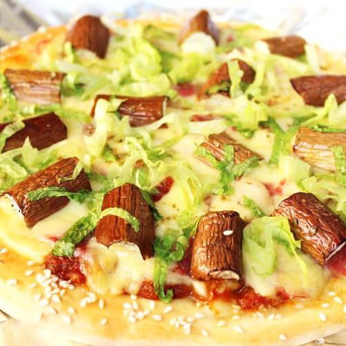 美味茄子披萨