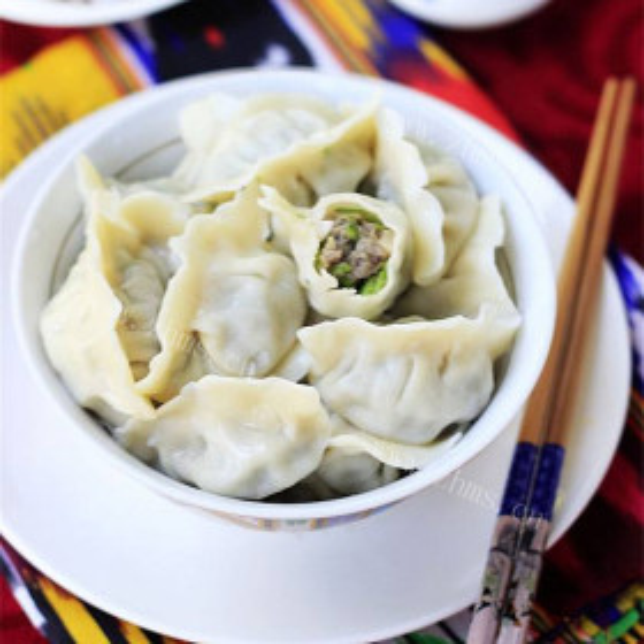毛芹菜羊肉饺子