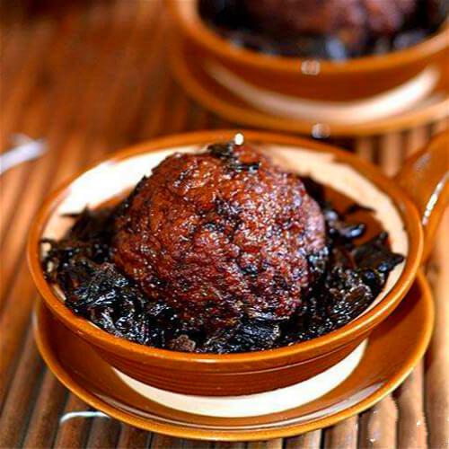 新鲜炸梅菜干猪肉丸