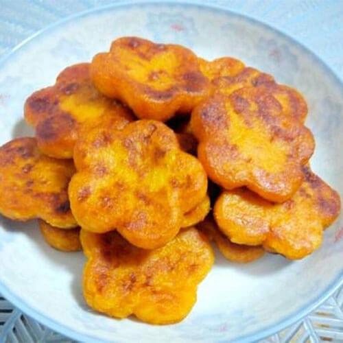 梅花红薯粑粑