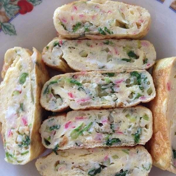 银鳕鱼蔬菜蛋卷