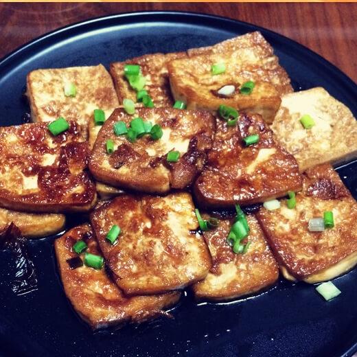好吃素煎嫩豆腐