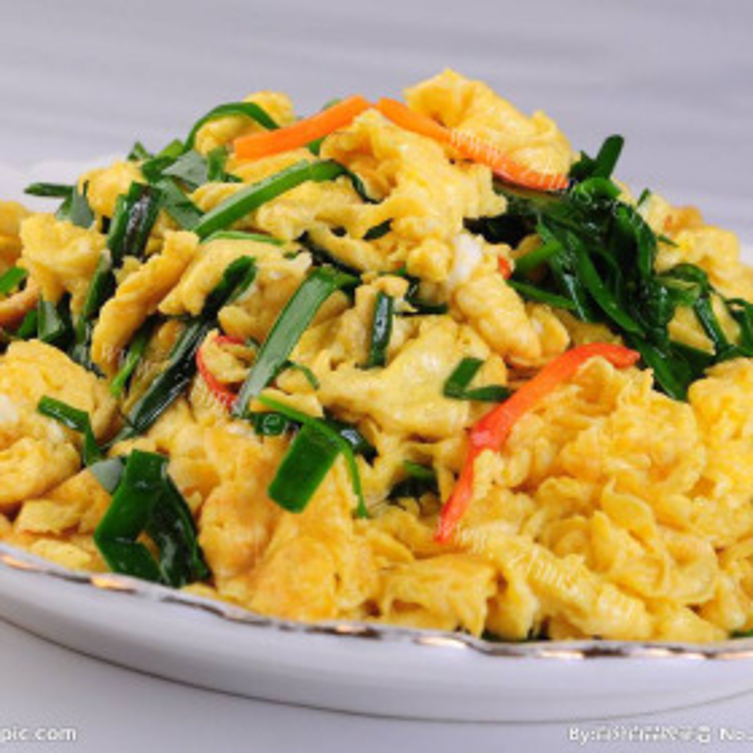 鸡蛋炒韮菜
