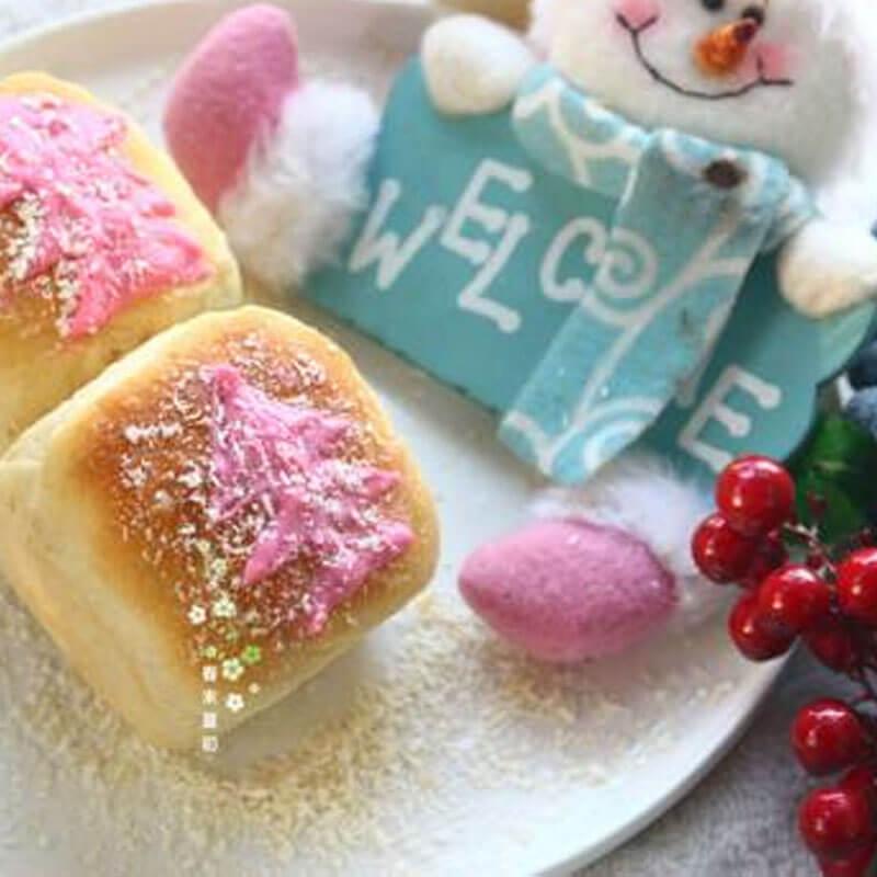 圣诞风苹果酱方形小面