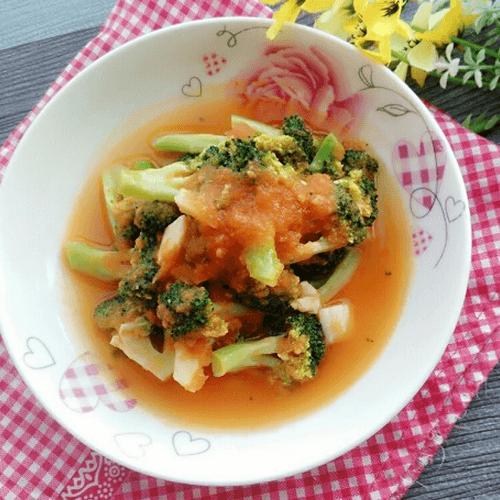 茄汁烩西兰花