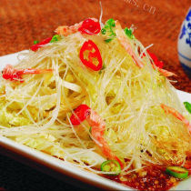 青菜虾皮粉丝煲