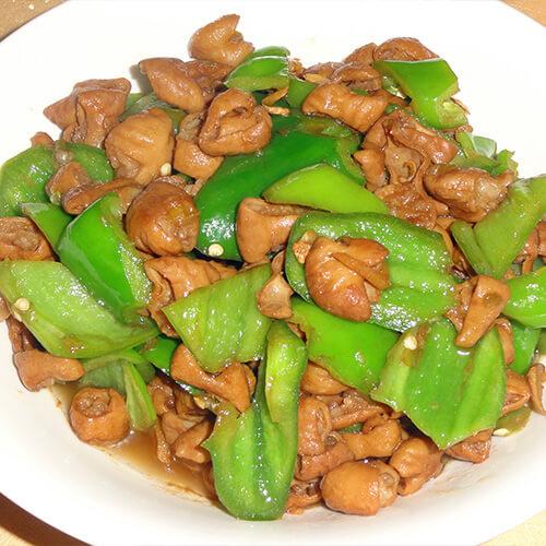 美味的青椒炒猪肠子