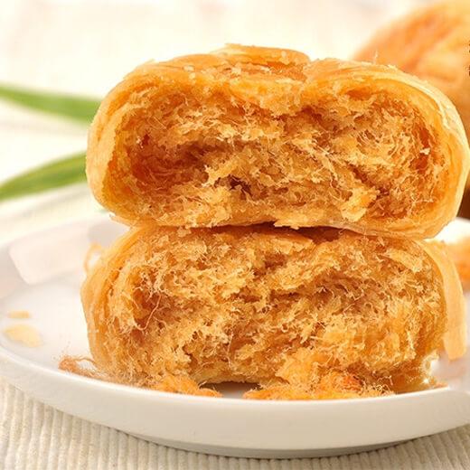 好吃的海苔肉松早餐饼