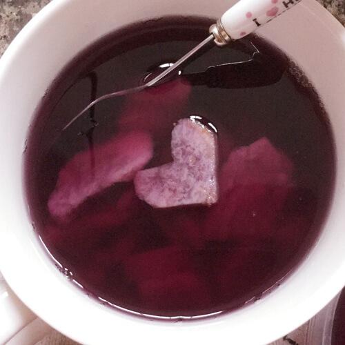 自制牛奶紫薯糖水