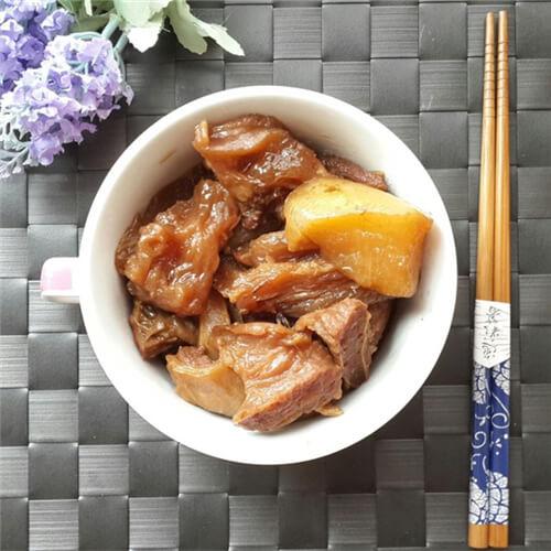 牛筋焖白萝卜