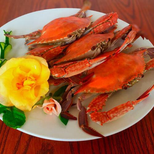 蒜蓉蒸梭子蟹