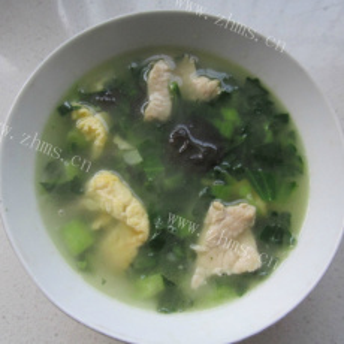 鲜香鸡蛋肉片汤