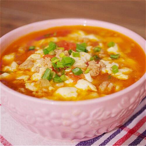 简单版蒸肉末汤