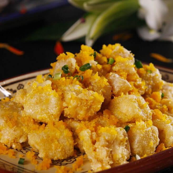 金沙芙蓉豆腐