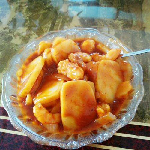 韩式海鲜年糕